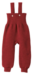 Knitted Trousers: Bordeaux