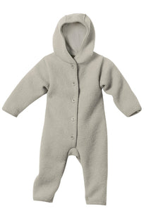 Boiled Wool Overall: Grey