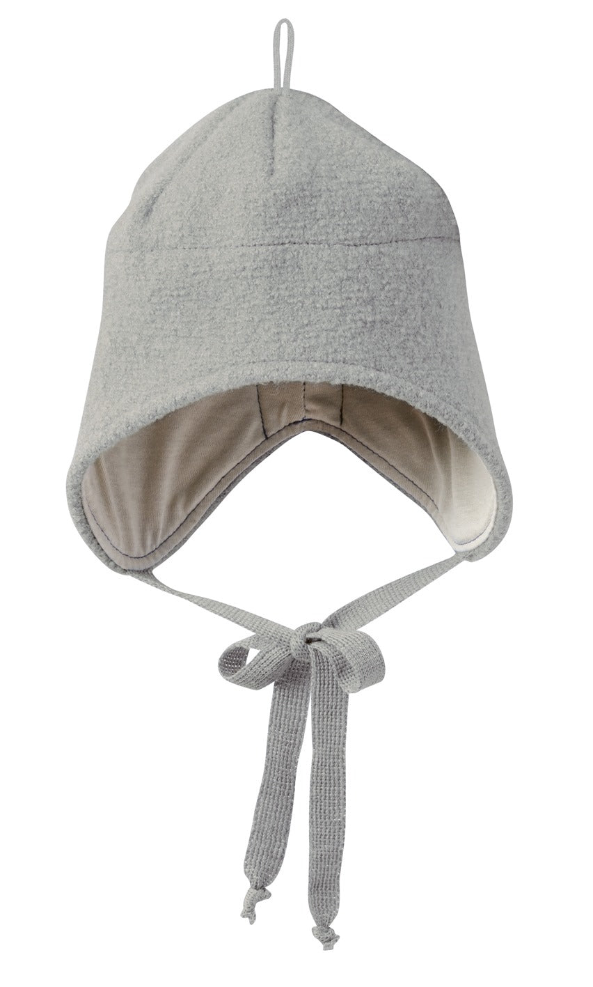 Boiled Wool Hat: Grey