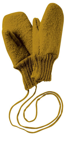 Boiled Wool Gloves: Gold