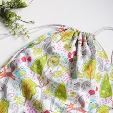 Load image into Gallery viewer, Green Woodland Drawstring Bag