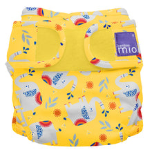 Load image into Gallery viewer, bambino mio reusable nappy cover elephant stomp yellow background