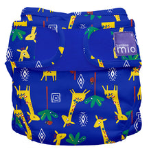 Load image into Gallery viewer, bambino mio reusable nappy cover blue with giraffe
