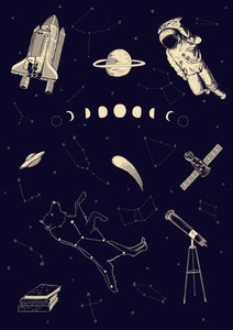 Space Flash Art Sheet Print