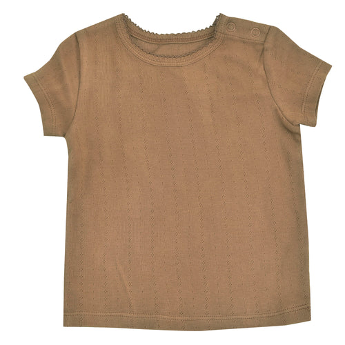 Pointelle T-Shirt | Taupe