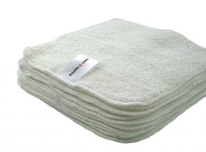 Twelve Pack Bamboo Cotton Terry Wipes 20x20cm