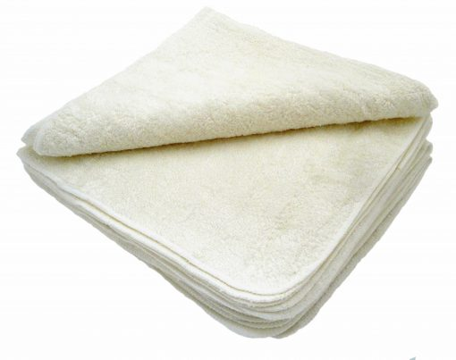 Twelve Pack Bamboo Cotton Terry Squares: 50x 50 cms