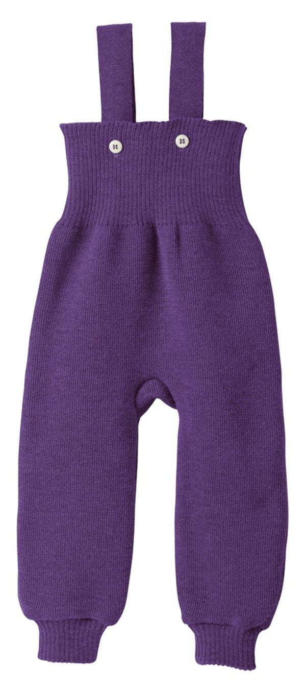 Knitted Trousers: Plum