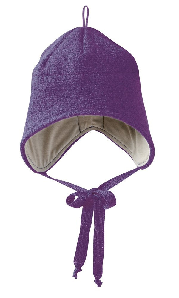 Boiled Wool Hat: Plum
