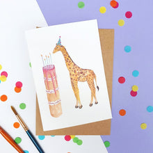 Load image into Gallery viewer, Birthday Cake Giraffe
