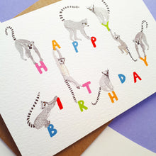 Load image into Gallery viewer, Lemur Happy Birthday Card