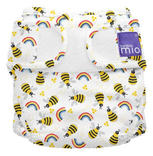Load image into Gallery viewer, bambino mio reusable nappy cover bumble bees