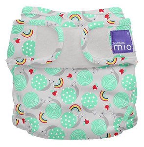 bambino mio reusable nappy cover snails and rainbows