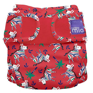 bambino mio reusable nappy cover red with zebras