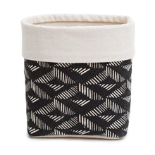 Load image into Gallery viewer, Black Aztec Fabric Storage Basket