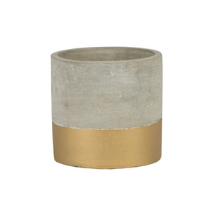 Mini Gold Dipped Cement Planter