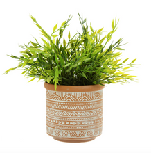 Load image into Gallery viewer, Terracotta Aztec Pattern Planter