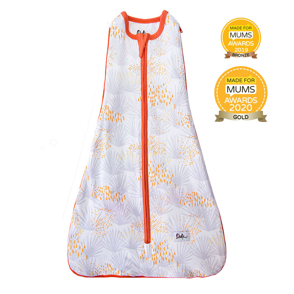 New Owli Sleeping Guru Swaddle/Sleeping Bag 0.3 TOG Palm Springs