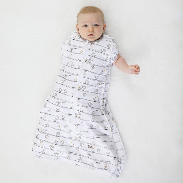 New Owli Sleeping Guru Swaddle/Sleeping Bag 0.3 TOG Early Birds