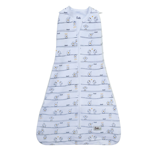 New Owli Sleeping Guru Swaddle/Sleeping Bag 0.5 TOG Early Birds