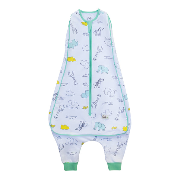 New Owli Sleeping Guru Swaddle/Sleeping Bag 0.5 TOG Zoo Zoo
