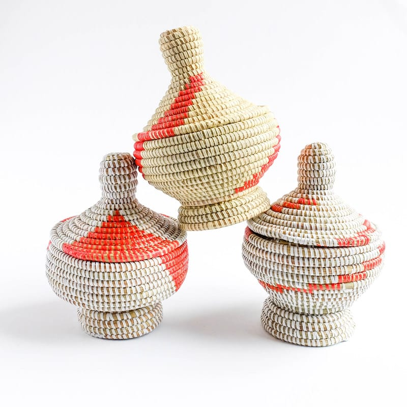 Handwoven baskets from Senegal