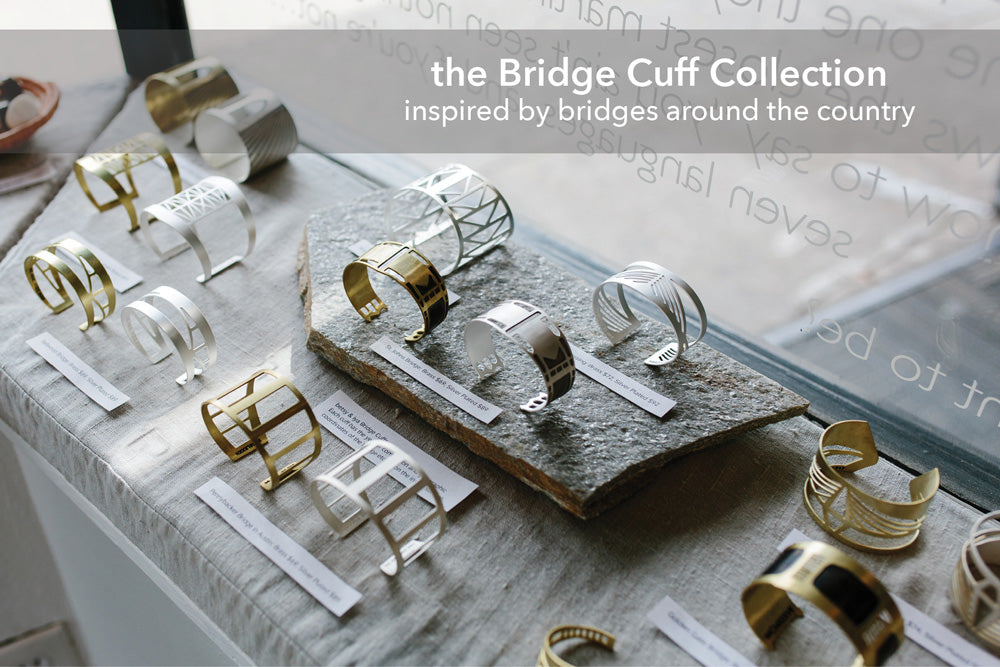 betsy & iya bridge cuffs in silver and brass