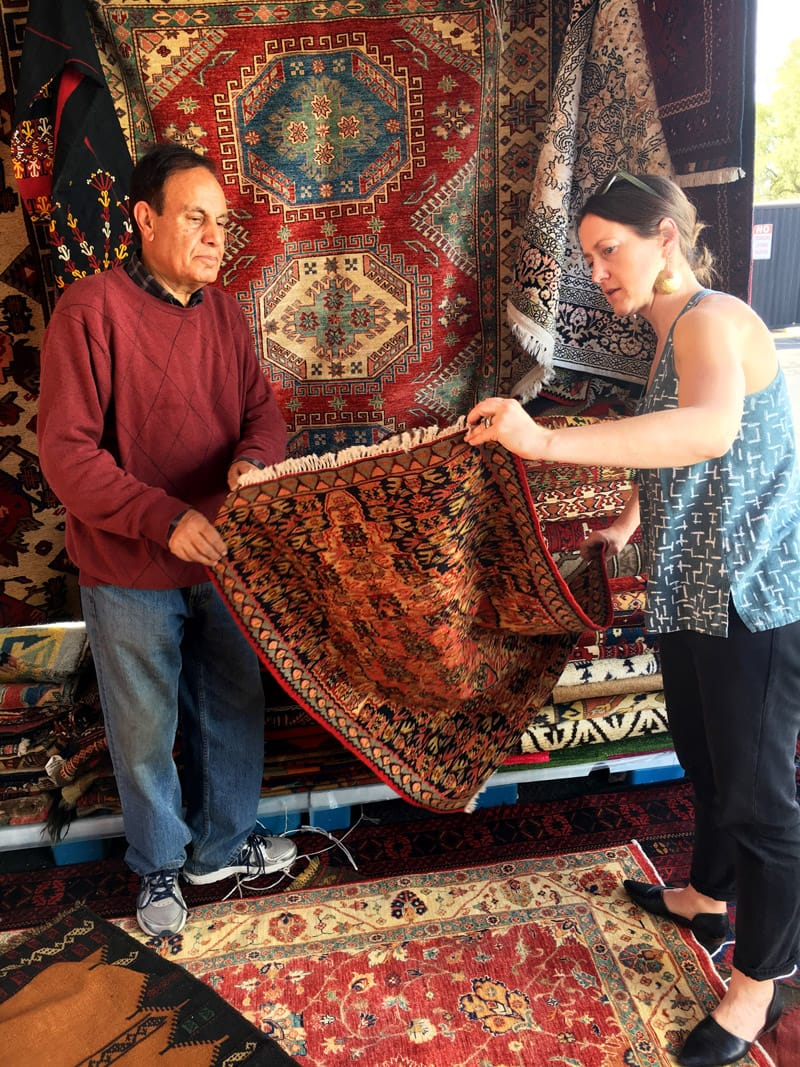 Bashir Tribal Rugs Bazaar Vendor - Baluchi and Senneh rugs from Afghanistan