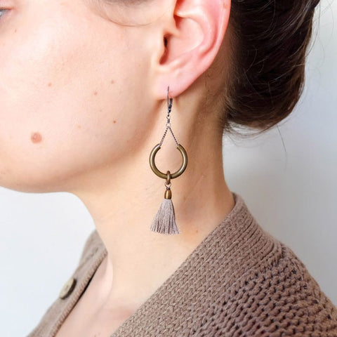 BOET fiber Duster Earrings in Dune