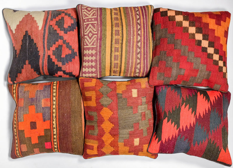 Kilim Pillowcases from Asian Imports