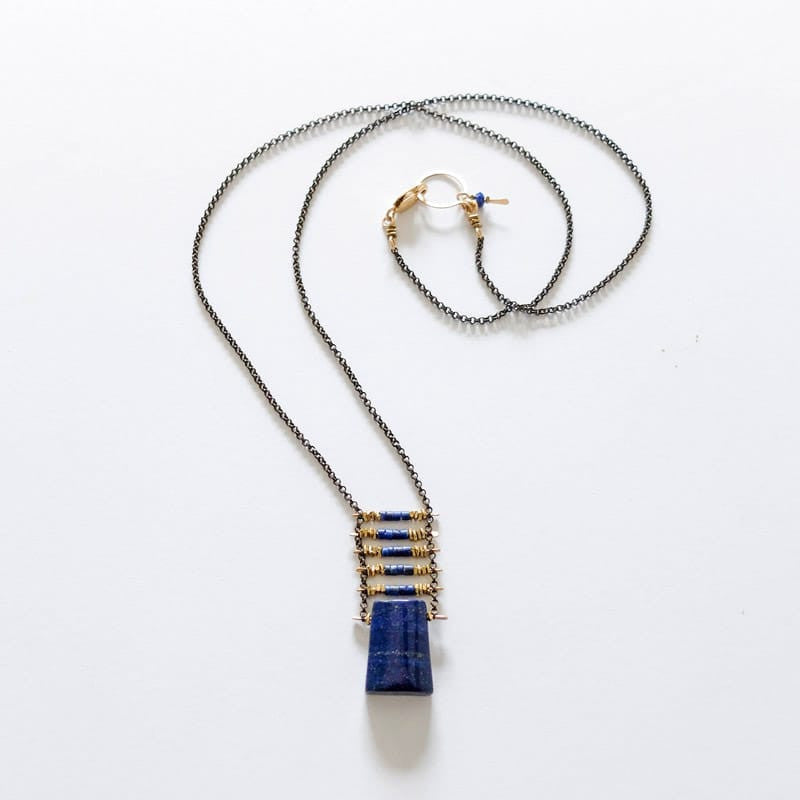 Demimonde necklace in Lapis