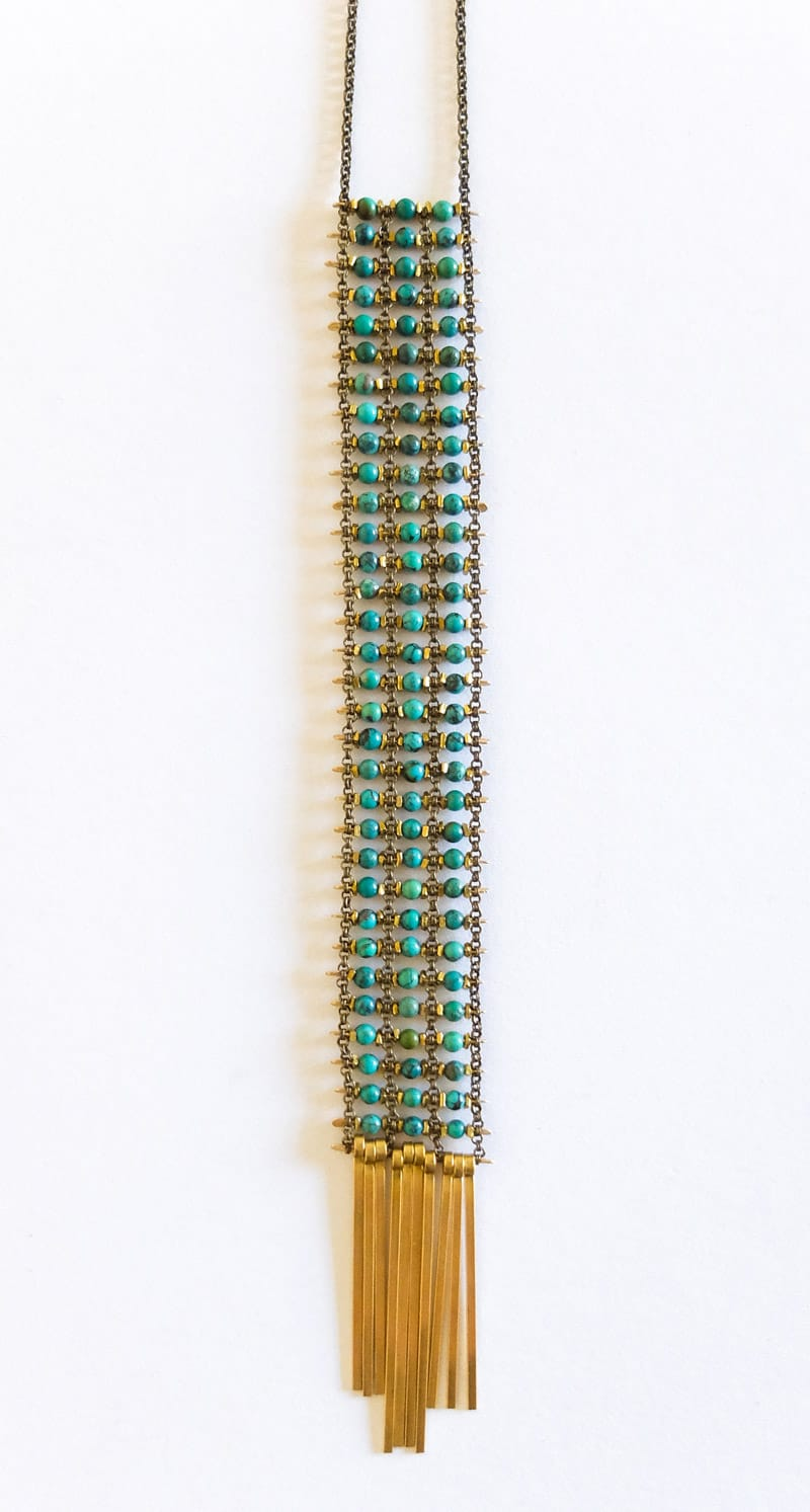 Demimonde jewelry long turquoise necklace