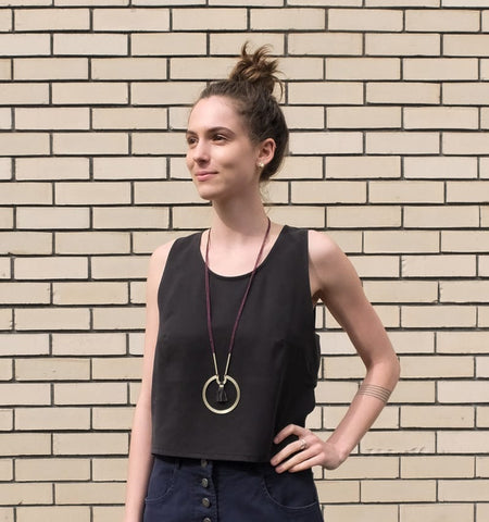 Eve Gravel Firefly top in Black