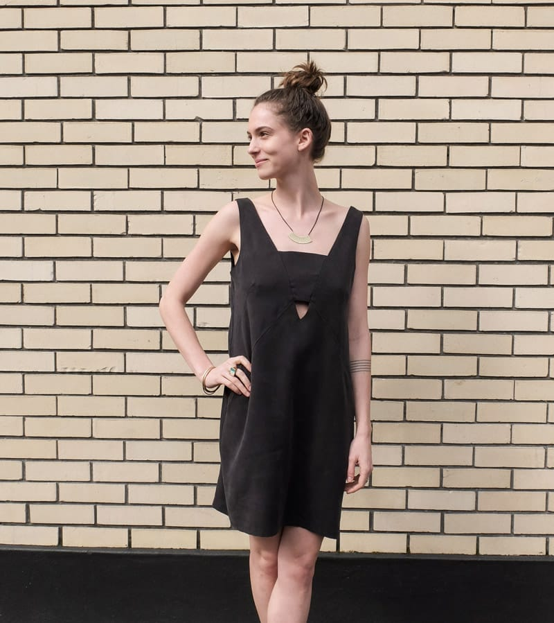 Eve Gravel Sauvage Dress in Black