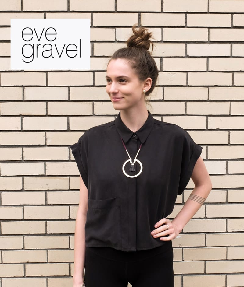 Eve Gravel Shallows Top Black