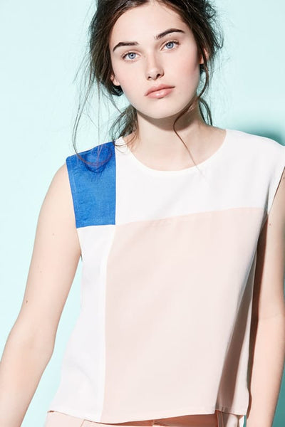 Eve Gravel Montreal - Mondrian Top Pink Blue