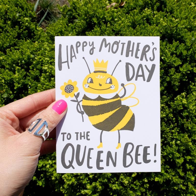 happy mother's day to the queen bee card