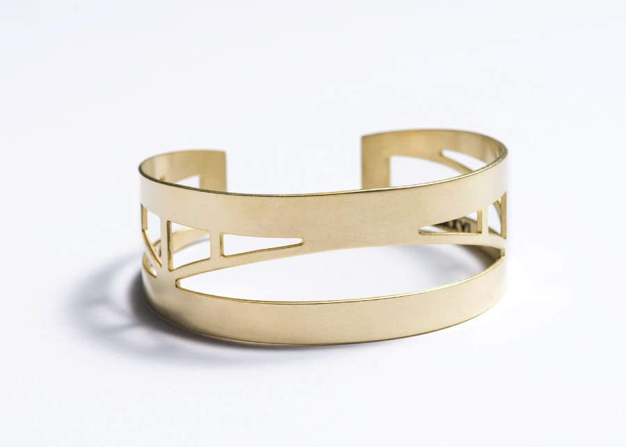 betsy and iya Sellwood Bridge Cuff Bracelet