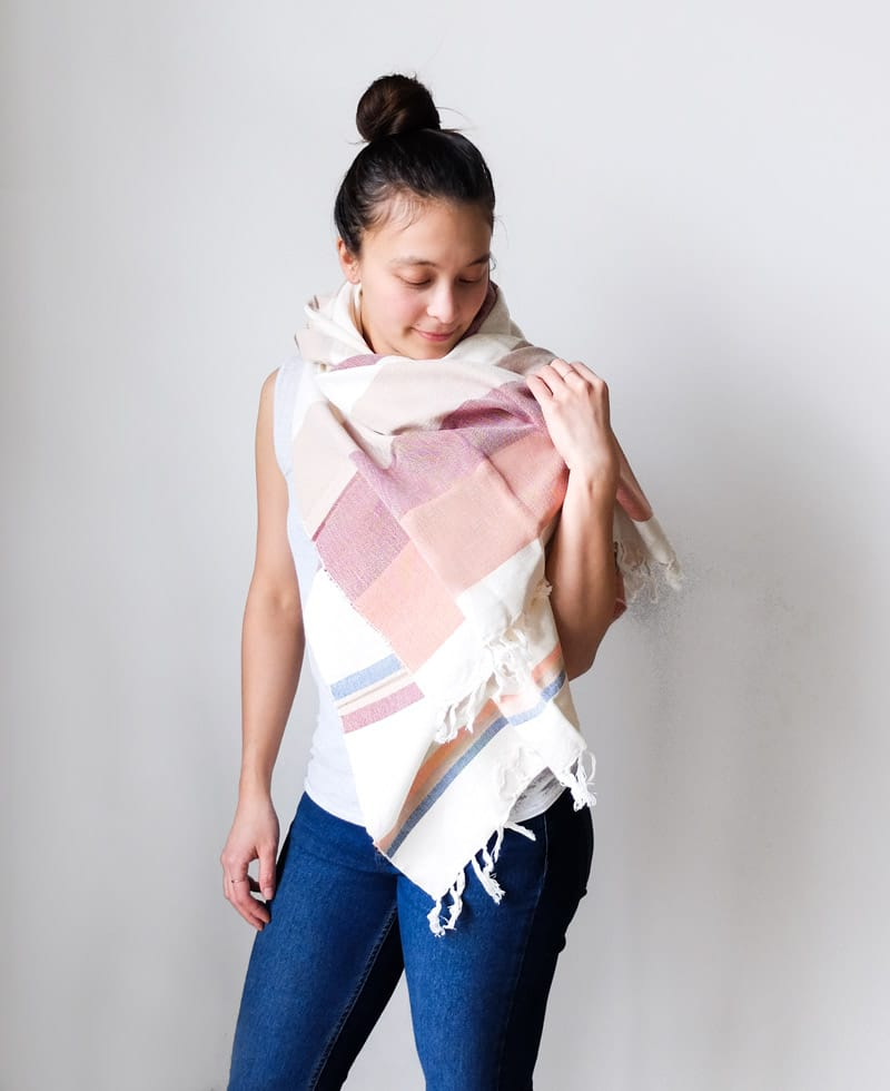 Minna Grapefruit Scarf and Towel