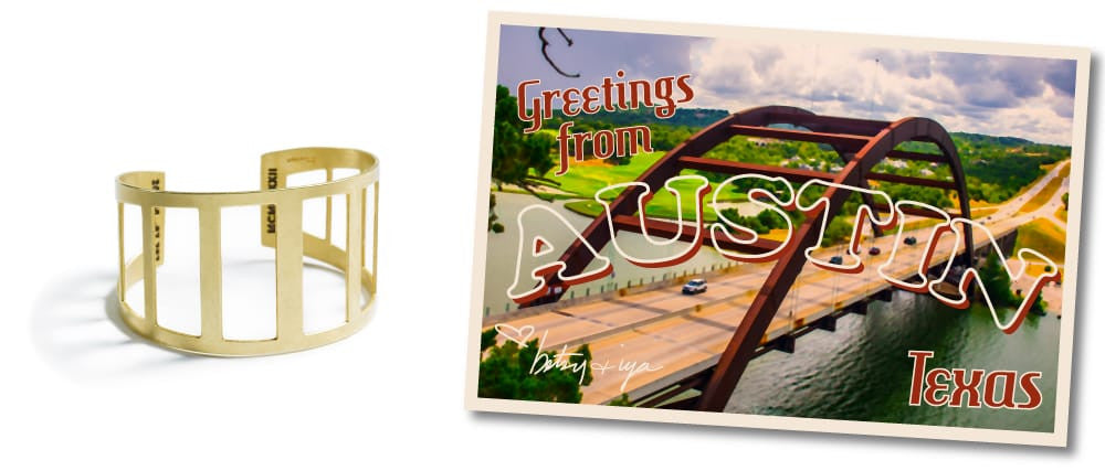 Pennybacker Bridge cuff bracelet