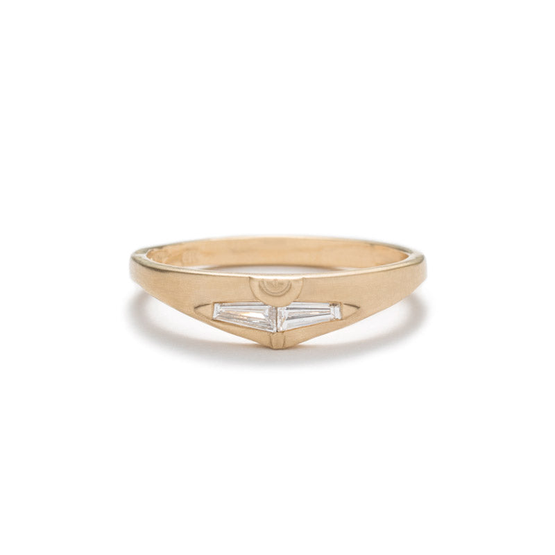 Spero ring, 14k yellow gold ring with diamonds by betsy & iya