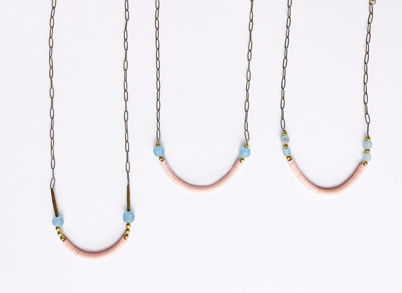 Sulu Design beaded necklaces in pink