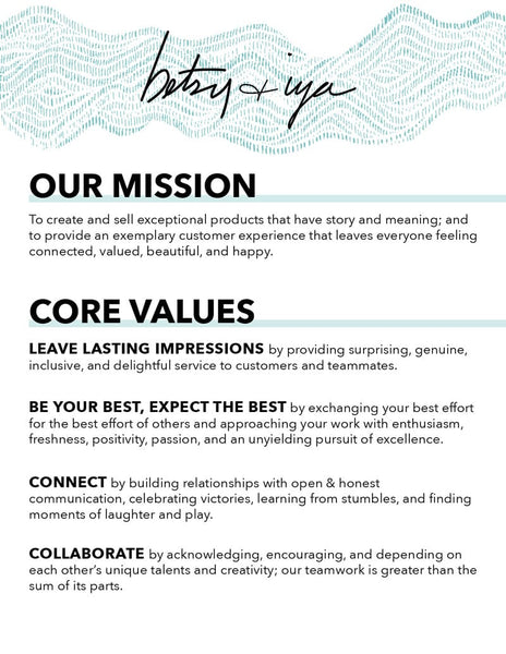 betsy & iya core values 1