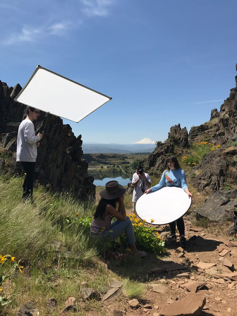 Inti Collection behind the scenes reflectors