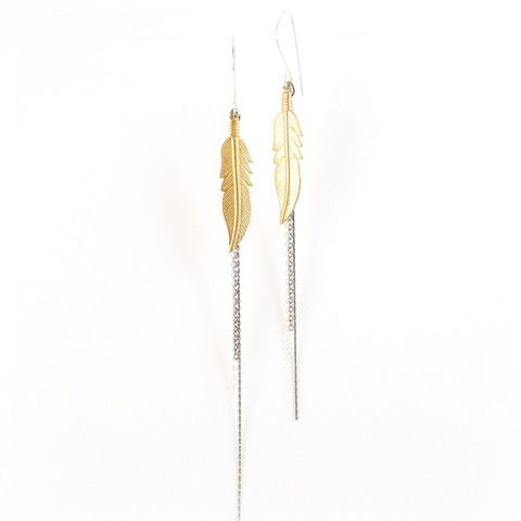 Feather Multi Chain earrings