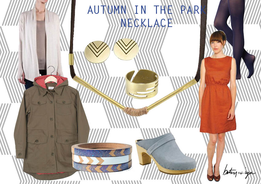 Autumn in the Park necklace_style board