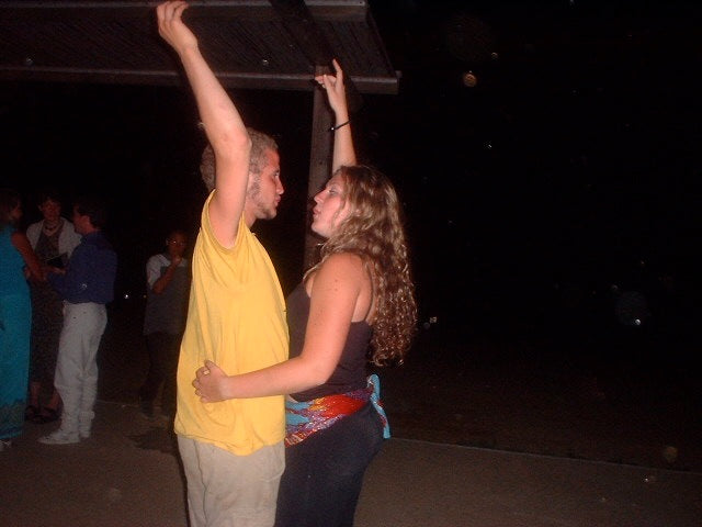 Betsy & Will dancing in Crete