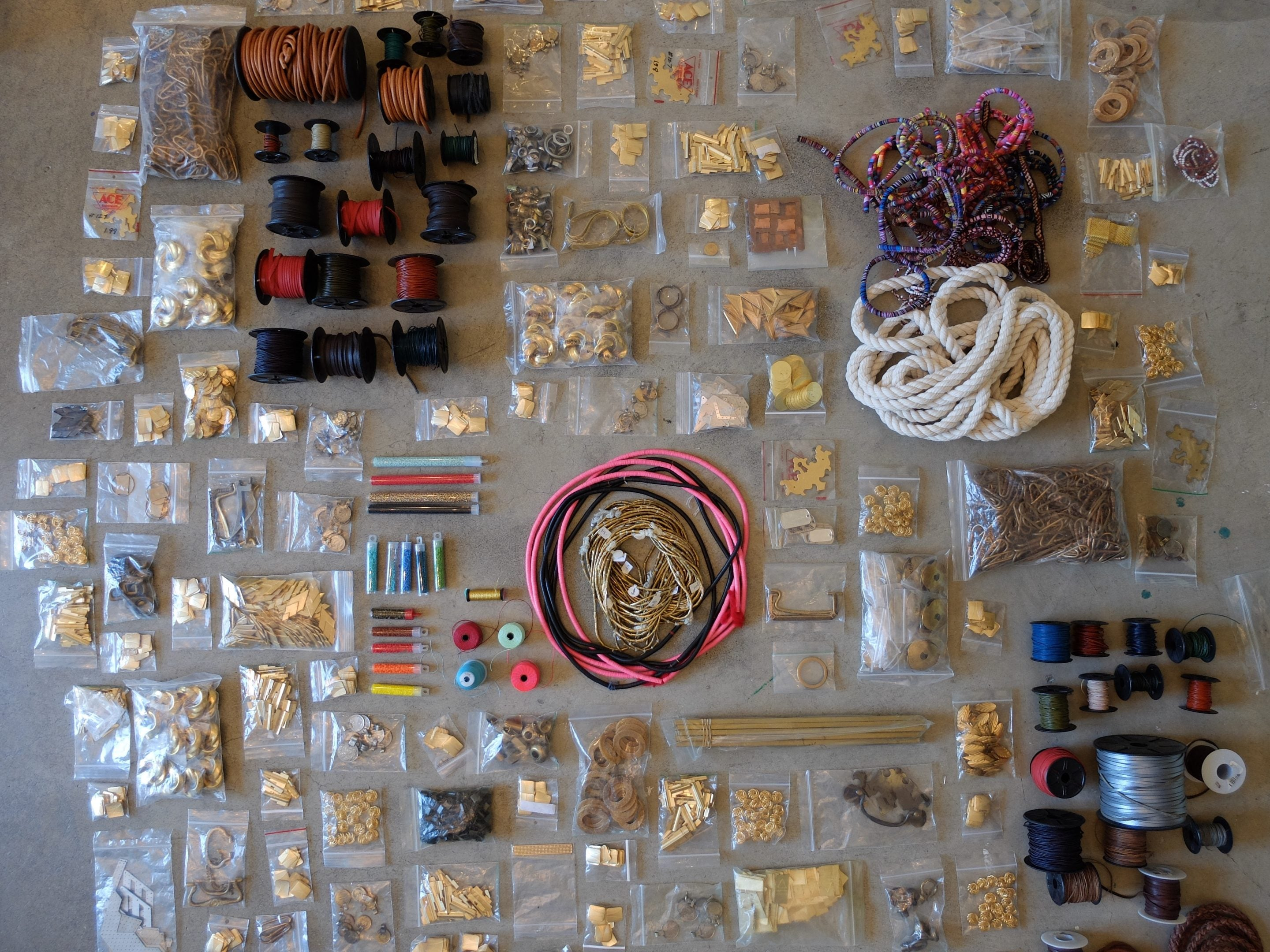jewelry materials at the betsy & iya garage sale