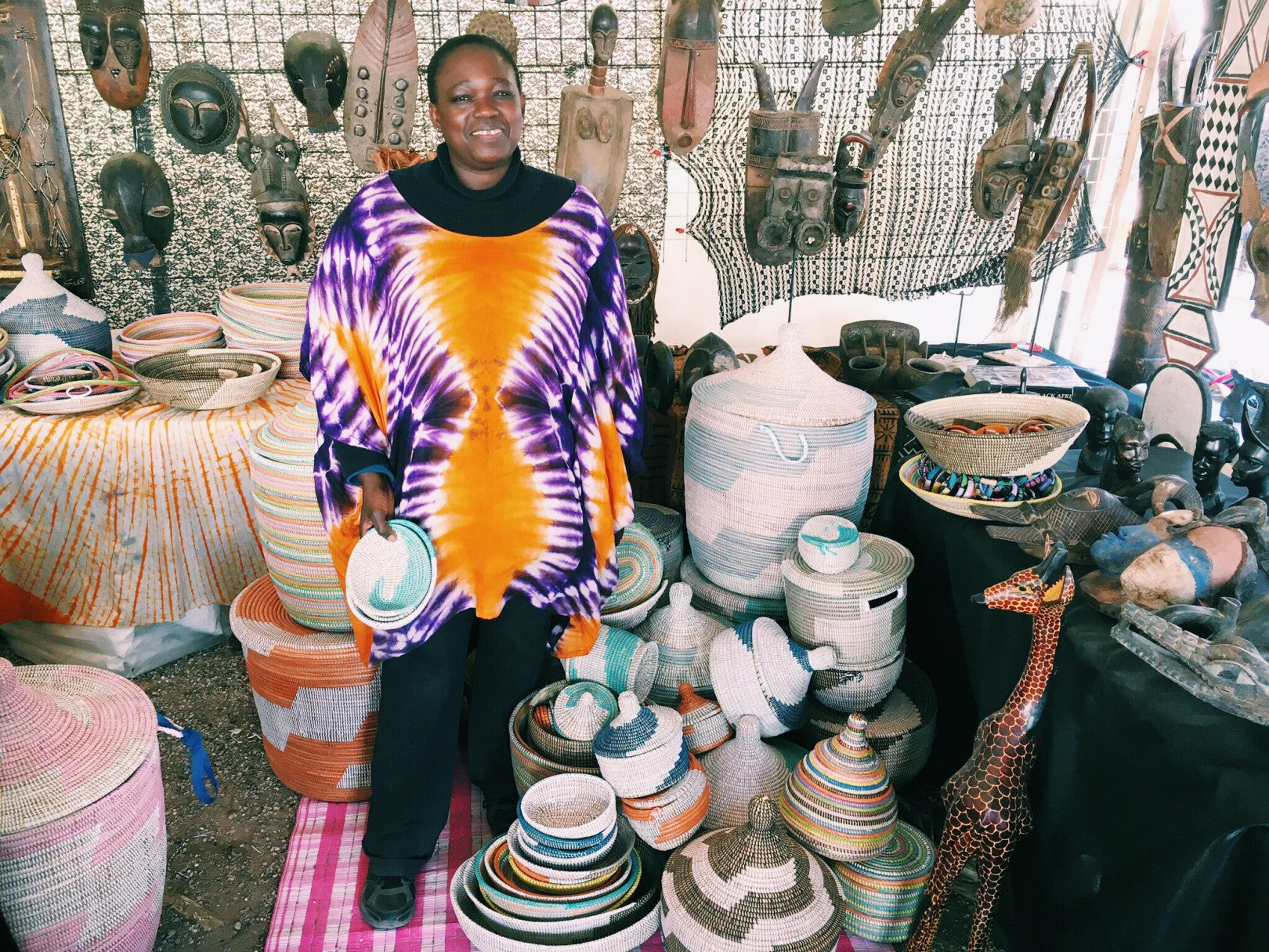 handwoven baskets from Africa
