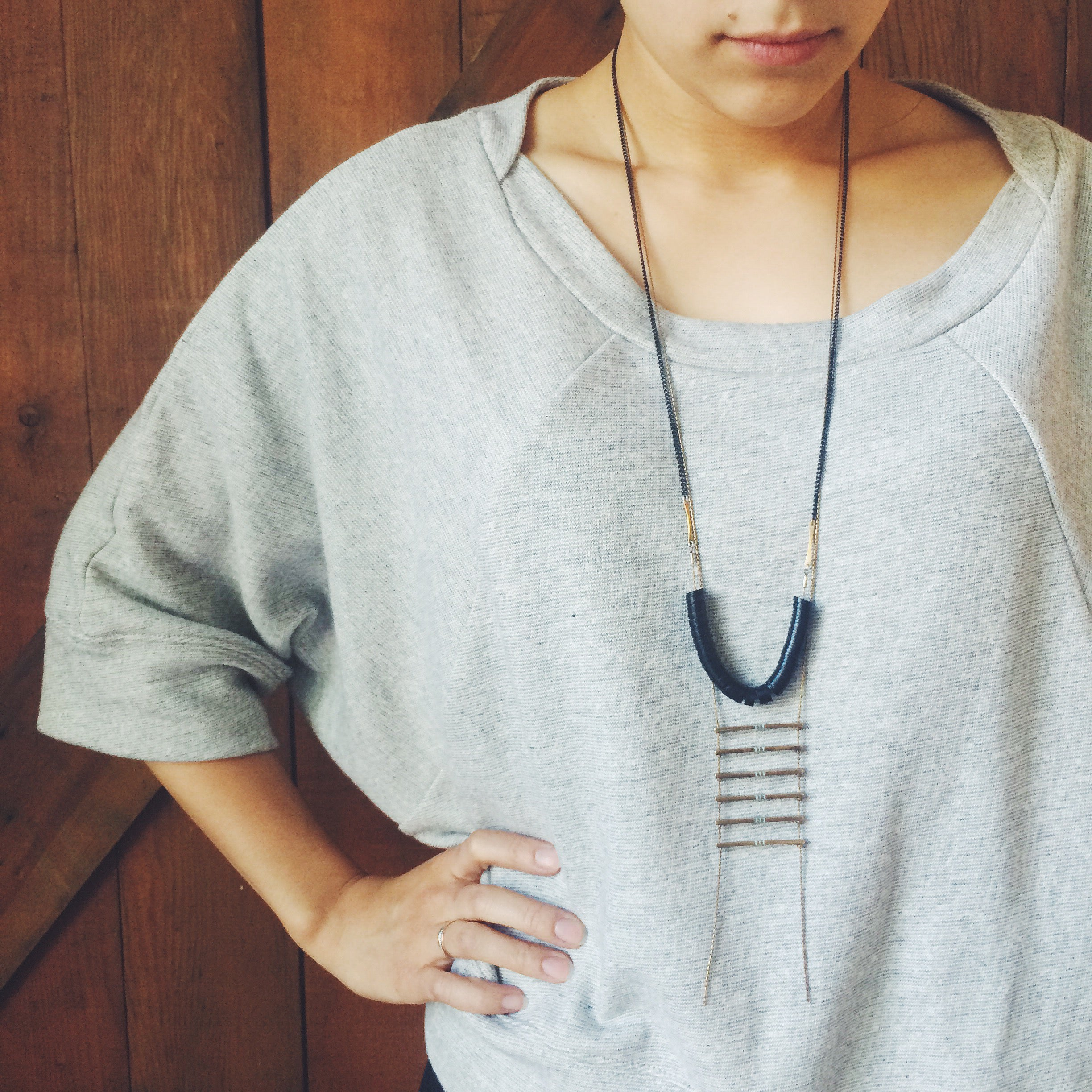 how to layer long necklaces